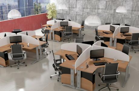 Móveis para ambientes corporativos.