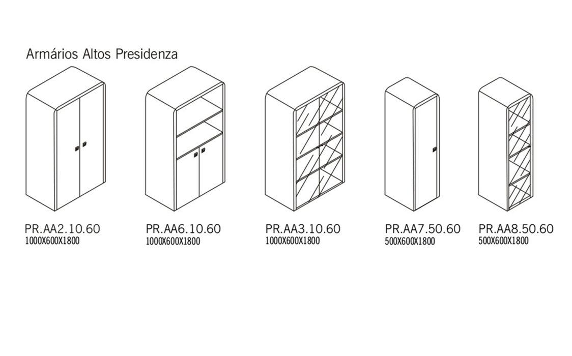 Armários altos Presidenza