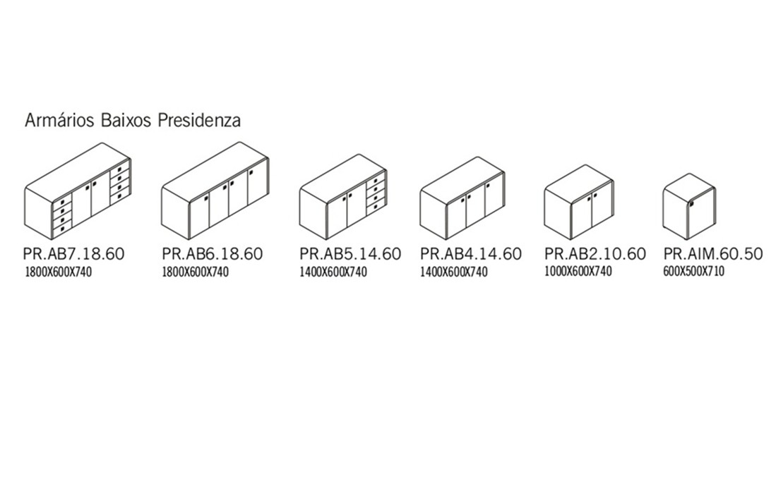Armários baixos Presidenza