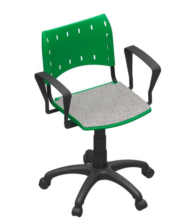 Cadeira compact base giratória para estofar