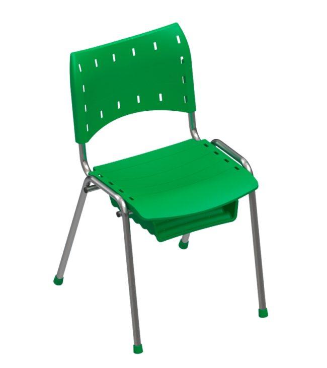 cadeira compact 4 pés com porta caderno