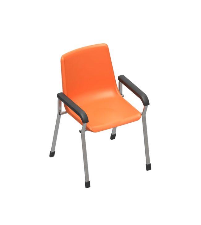 cadeira concha 4 pés com braço