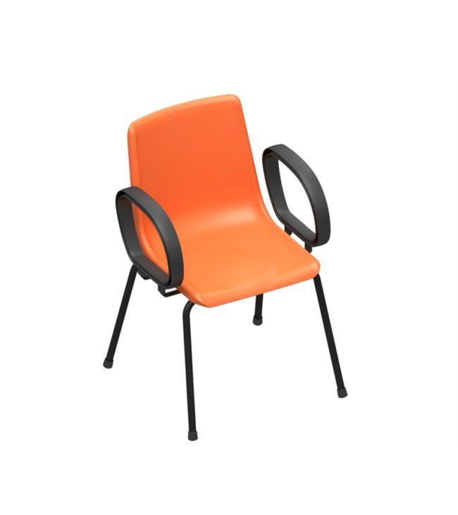 cadeira concha 4 pés com braço corsa