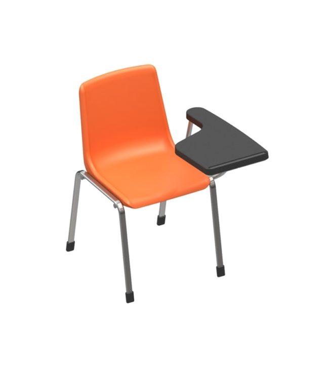 cadeira concha 4 pés com prancheta