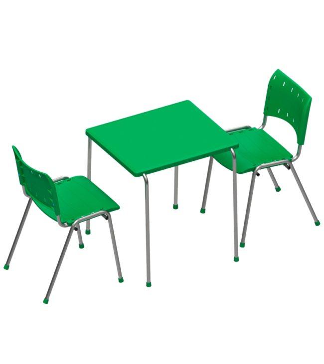 conjunto cadeira e mesa compact