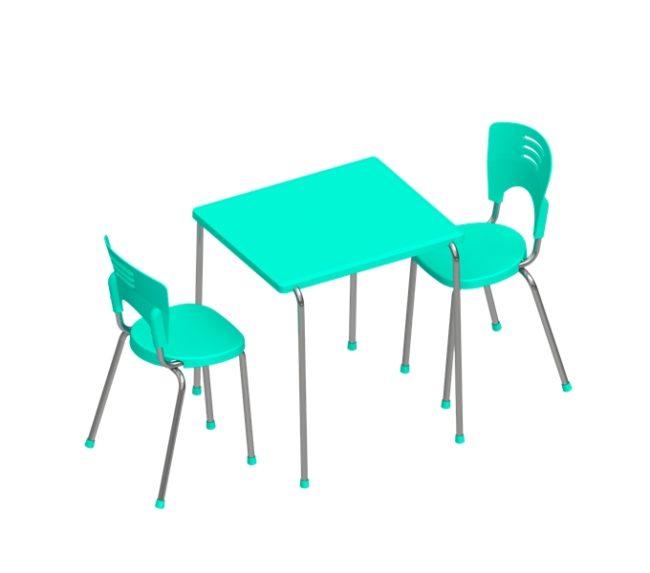 conjunto piacere mesa quadrada