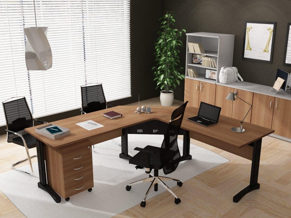 Mesa de trabalho em L