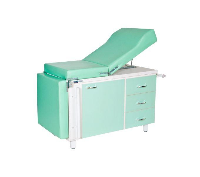 mesa ginecologica luxal 1 porta 3 gavetas