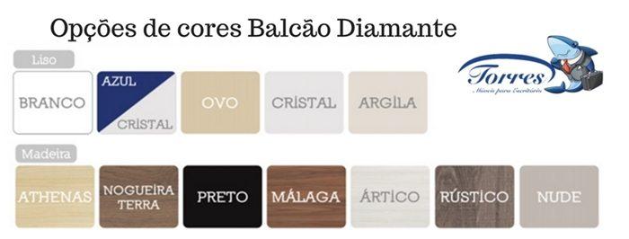 Opção de cores balcão Diamante