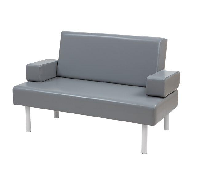 Sofa-cama fixo com apoio de braço