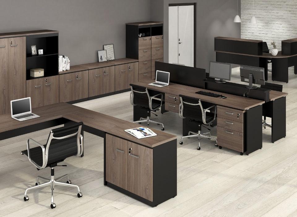 linha de móveis para escritório Yaris