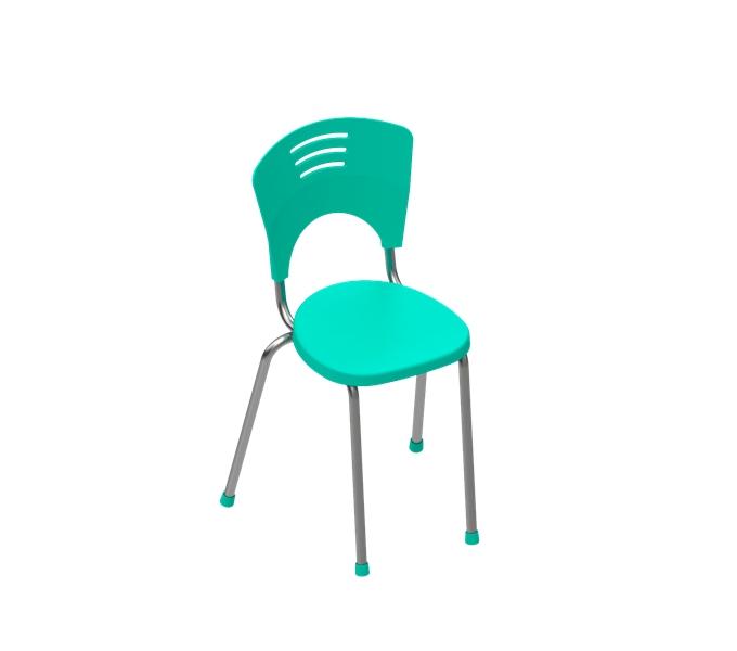 cadeira em polipropileno Piacere 4 pés