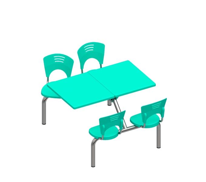cadeira em polipropileno Piacere conjunto lanchonete 4 lugares