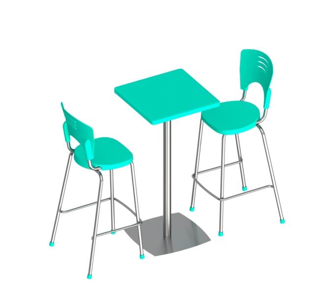 conjunto piacere com mesa e banquetas