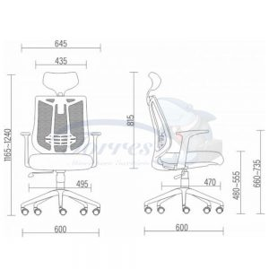 Medidas Cadeira Torres Aika com enc de cabeça