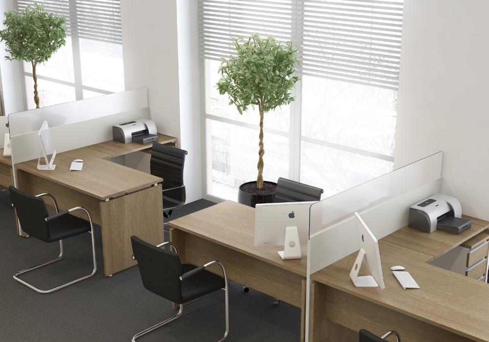Imagem de ambiente corporativo linha wood estação de trabalho - móveis para escritório