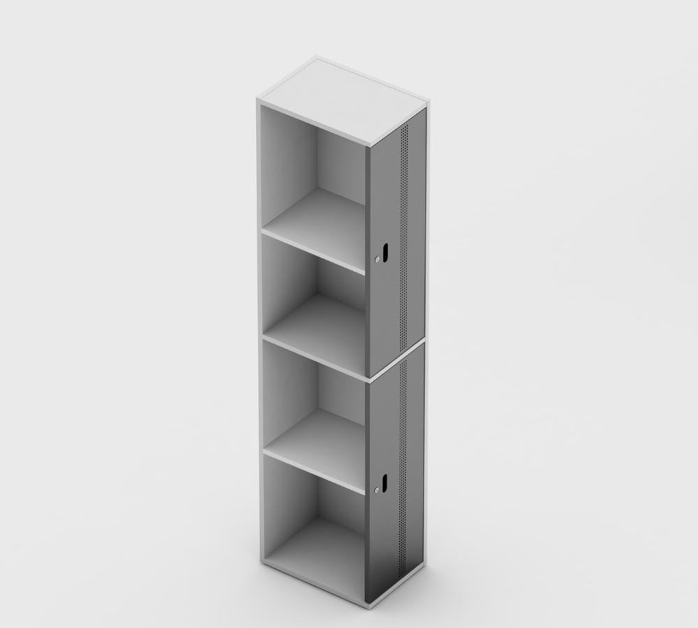 Locker 2 portas, imagem interna
