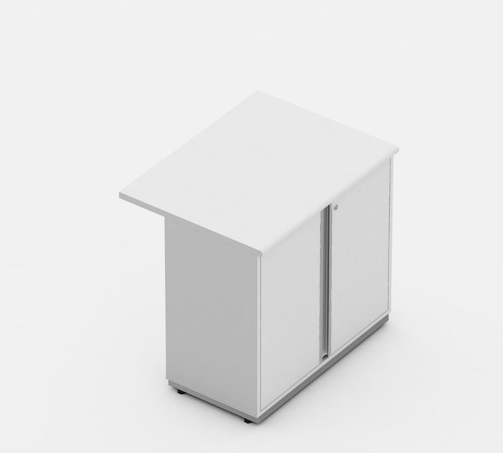 armario baixo 02 portas complemento linha wood - móveis para escritório