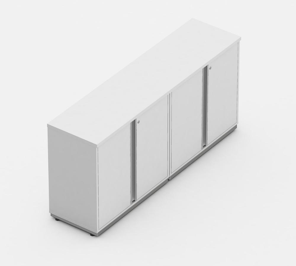 armario credenza linha wood 4 portas - moveis de escritório
