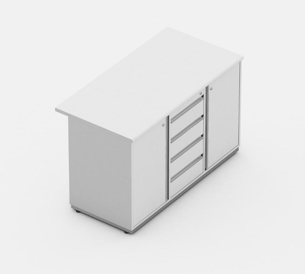 armario presidente 04 gavetas e 2 portas complemento linha wood