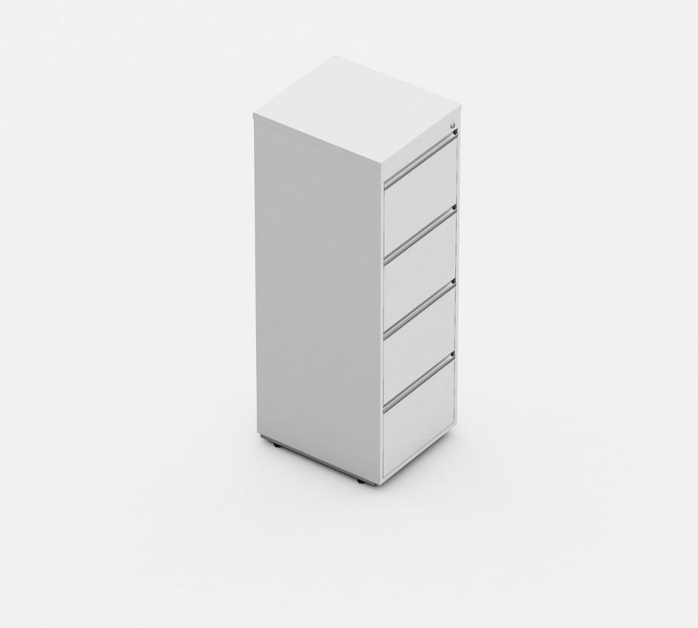 arquivo 4 gavetas para pastas suspensas linha wood