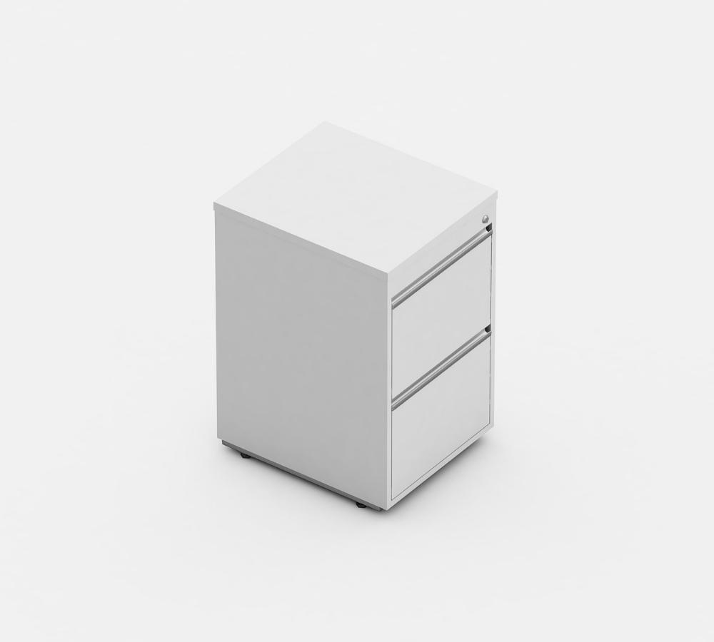 arquivo com 2 gavetas linha wood - linha para escritório