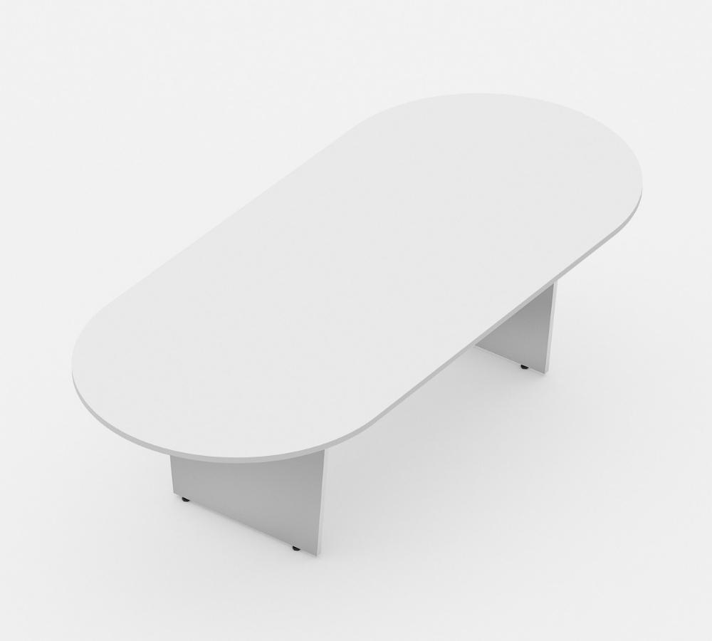 mesa de reunião oval linha wood