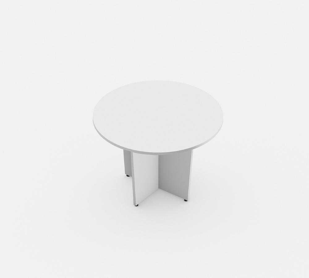 mesa de reunião redonda linha Torres wood