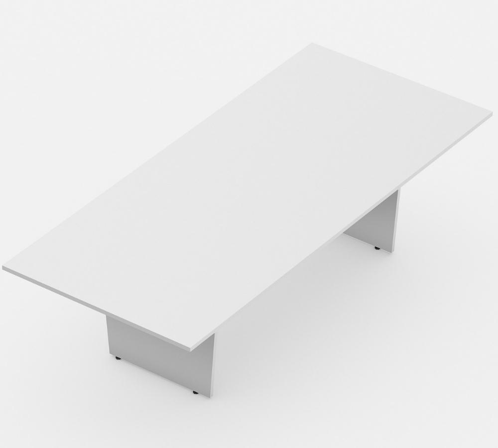 mesa de reunião retangular linha wood