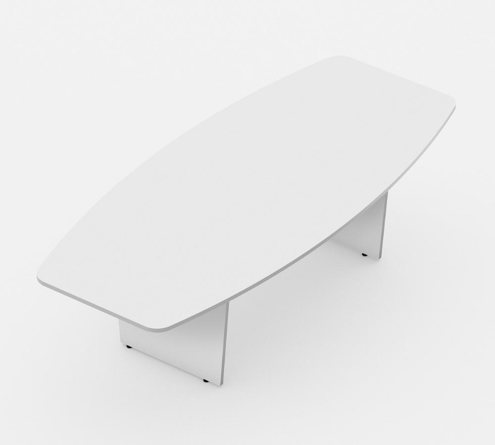 mesa de reunião semioval linha Torres wood