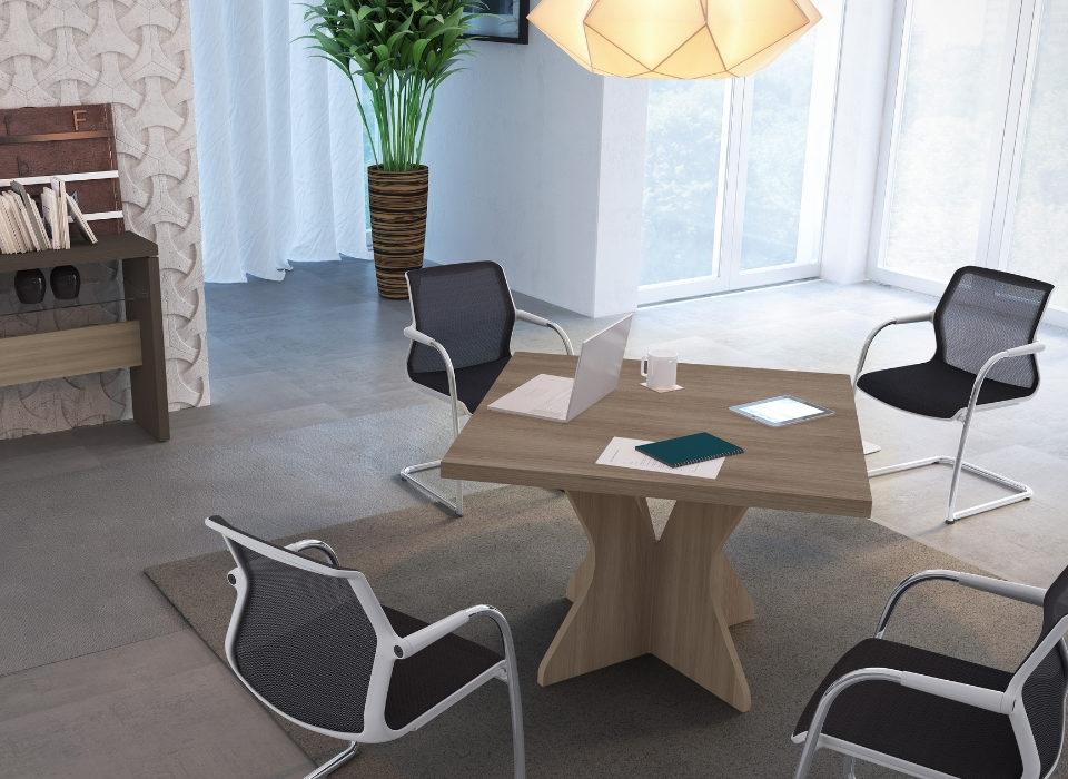 mesa redonda para sala de reunião