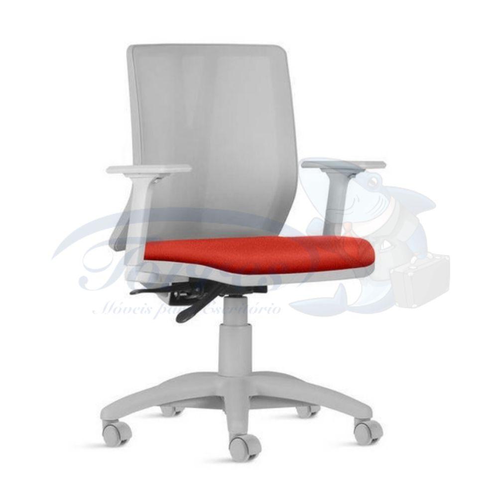 cadeira Torres Addit encosto tela cinza