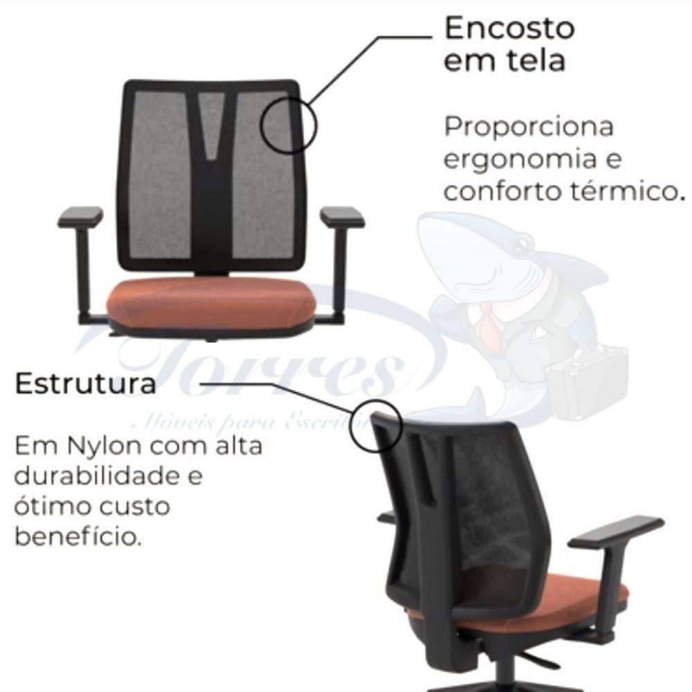cadeira Torres Addit encosto tela - detalhe encosto