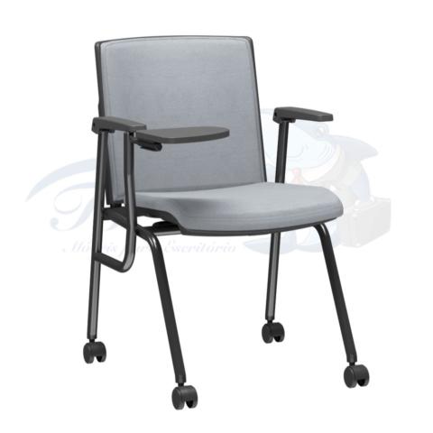 Cadeira Torres Versatile para treinamento, 4 pés com rodízios