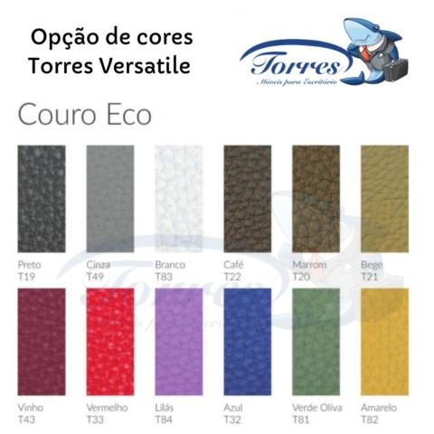 Opções de cores em couro ecológico