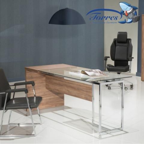 Mesa madeira e vidro Torres Beton 1001