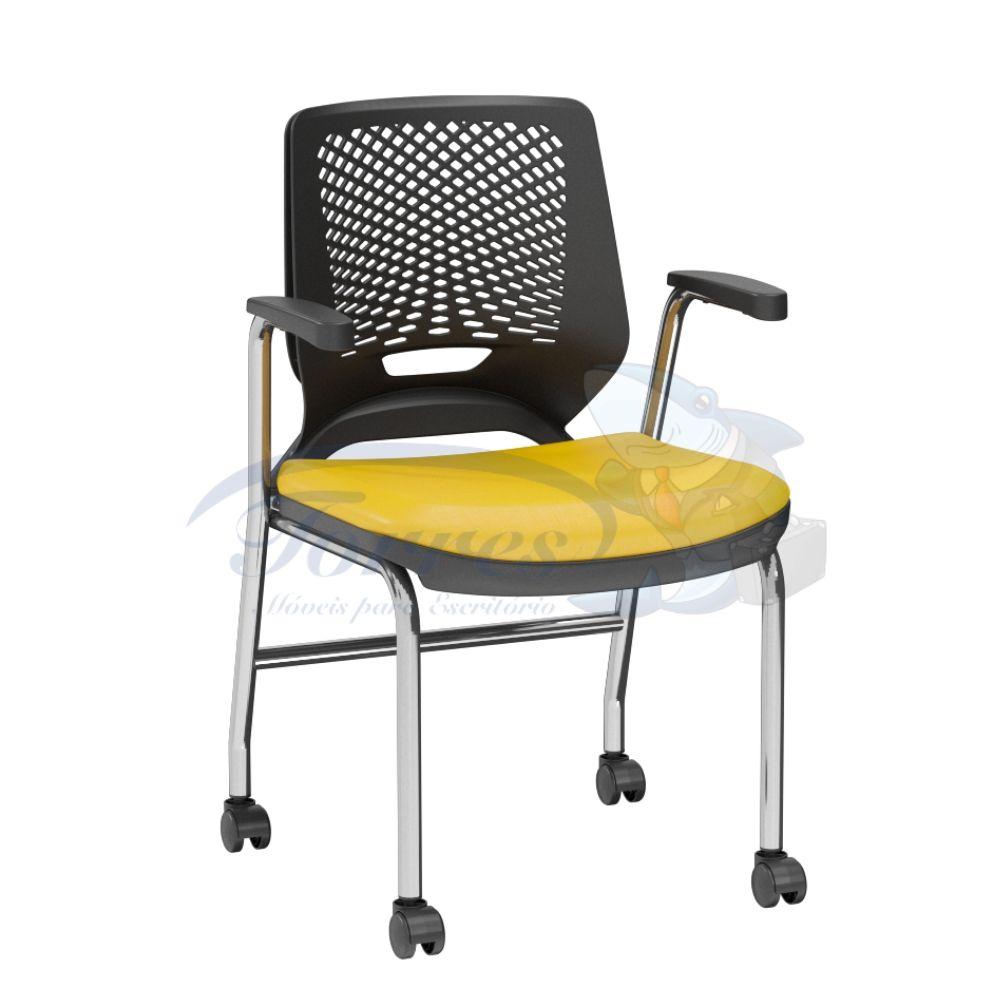 Cadeira Torres Beezi 4 pés com rodízios