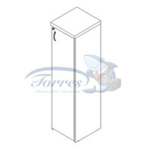 Armário alto 1 porta Torres Cetus
