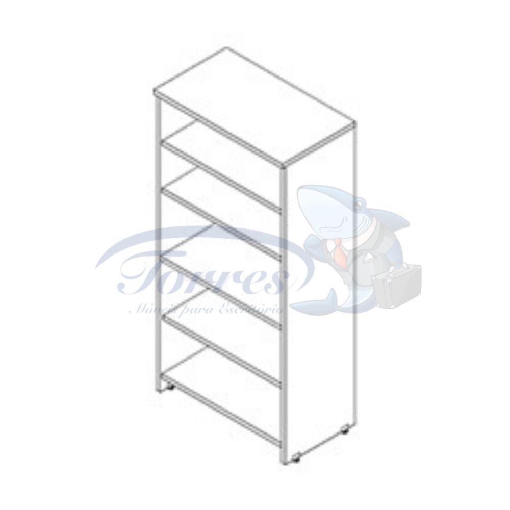 armário alto com prateleiras