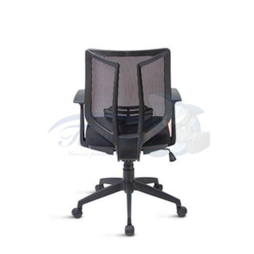 Cadeira Diretor Torres Aika base giratória braço regulável