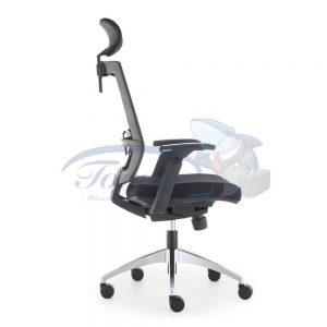 Cadeira Torres Monza com encosto de cabeça e base giratória