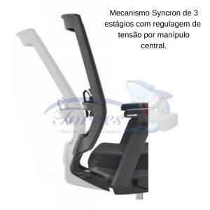 Cadeira Torres Monza mecanismo Syncron 3 estágios