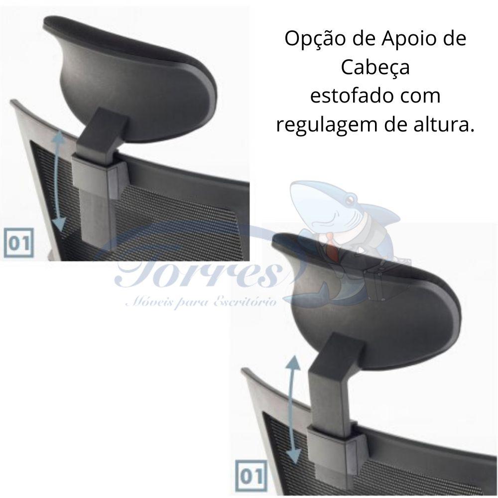 Cadeira Torres Monza opção de apoio de cabeça