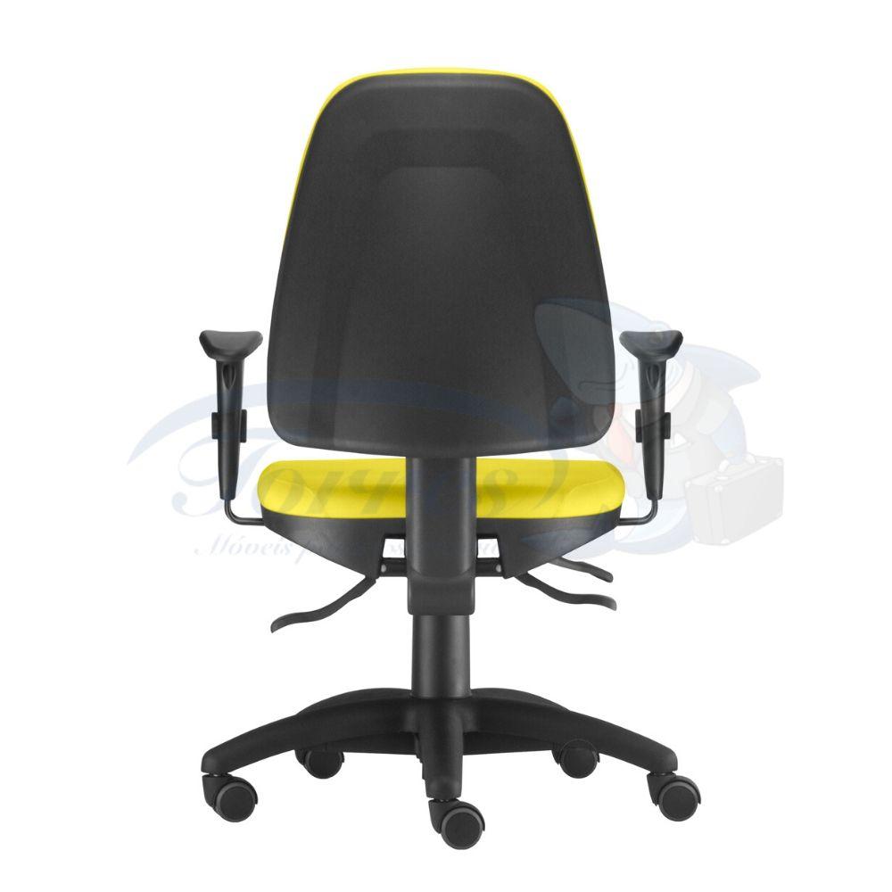 Cadeira Presidente base giratória com braço regulável