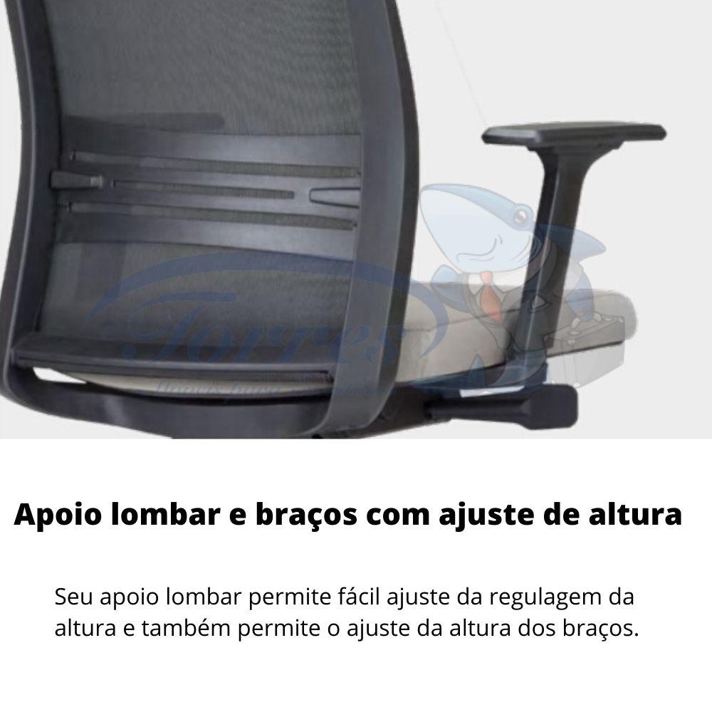 Torres Agile detalhe apoio lombar braços