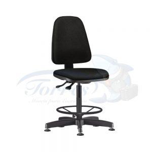 Cadeira Caixa Torres Sky fixa sem braço com apoio de pés