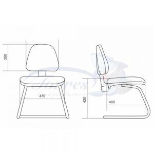medidas cadeira Torres Sky fixa