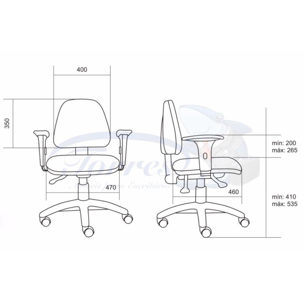 medidas cadeira Torres Sky média