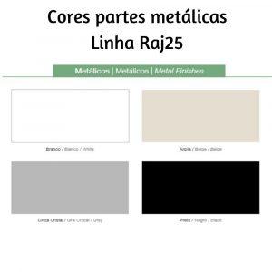 Cores partes metálicas Raj25