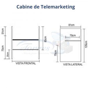 Medidas Cabine telemarketing Torres Jade completa
